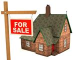 3D+House+and+sign+For+Sale