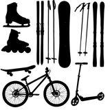 sports+Equipment+silhouette+vector+illustration