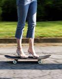skateboard+woman