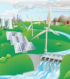 Electricity+power+generation+illustration
