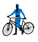 Female+Bicycle+Rider+Illustration+Silhouette