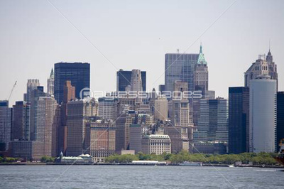 Manhattan skyline on a Clear Blue day