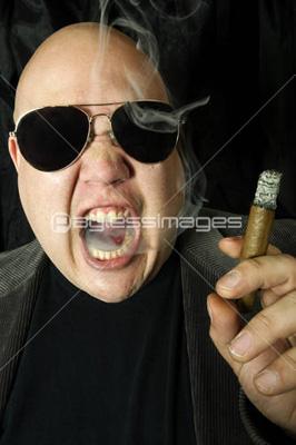 Mobster smoking a cigar